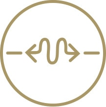 Infällda stretchpartier icon