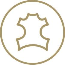 Vegetabiliskt garvat läder icon